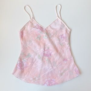 sweetest pastel semi sheer cami with flowers